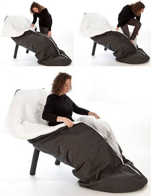 Sleeping bag Chair.